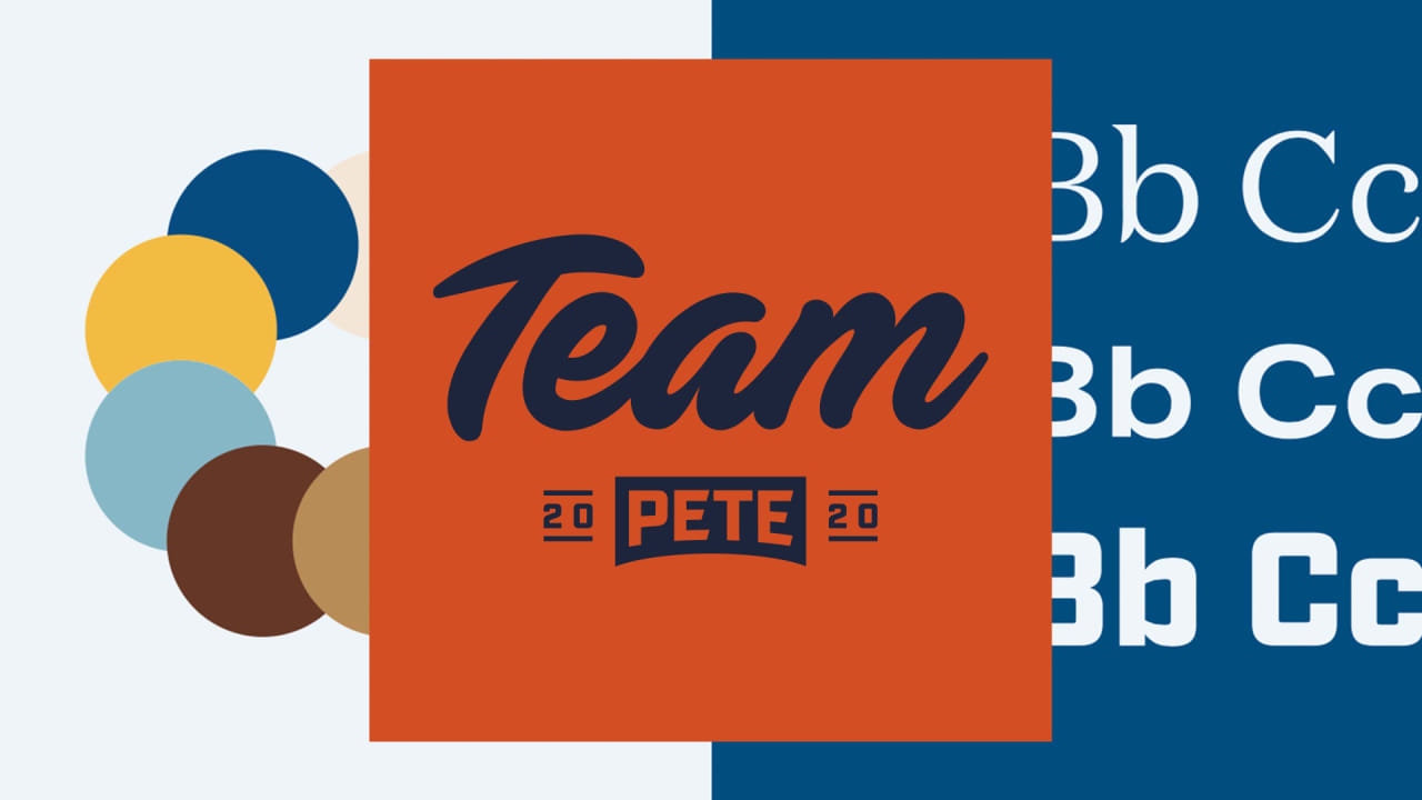 See Pete Buttigiegs logo and branding for the 2020 presidential race 1280x720