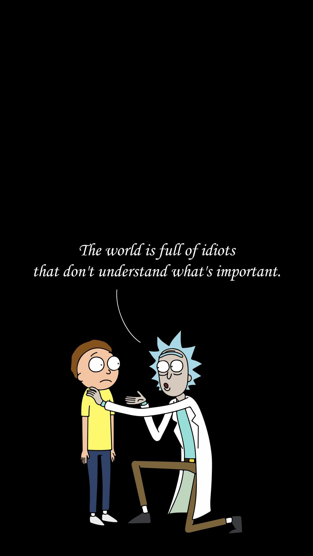 Quotes Wallpaper Rick And Morty iPhone Rick morty poster Rick 1080x1920