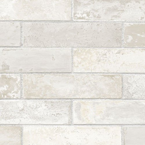 faux white gray brick wallpaper LL29532 500x500