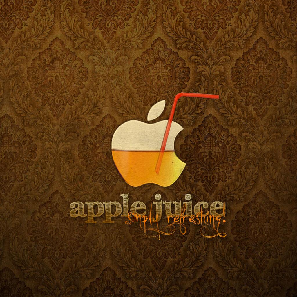 Apple Juice iPad Wallpaper Background and Theme 1024x1024
