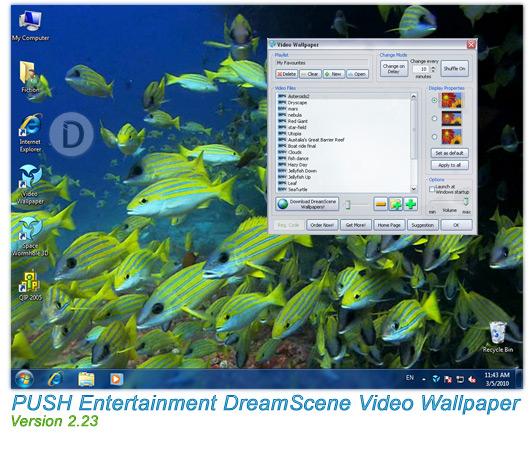 download PUSH Entertainment DreamScene Video Wallpaper v223 532x452
