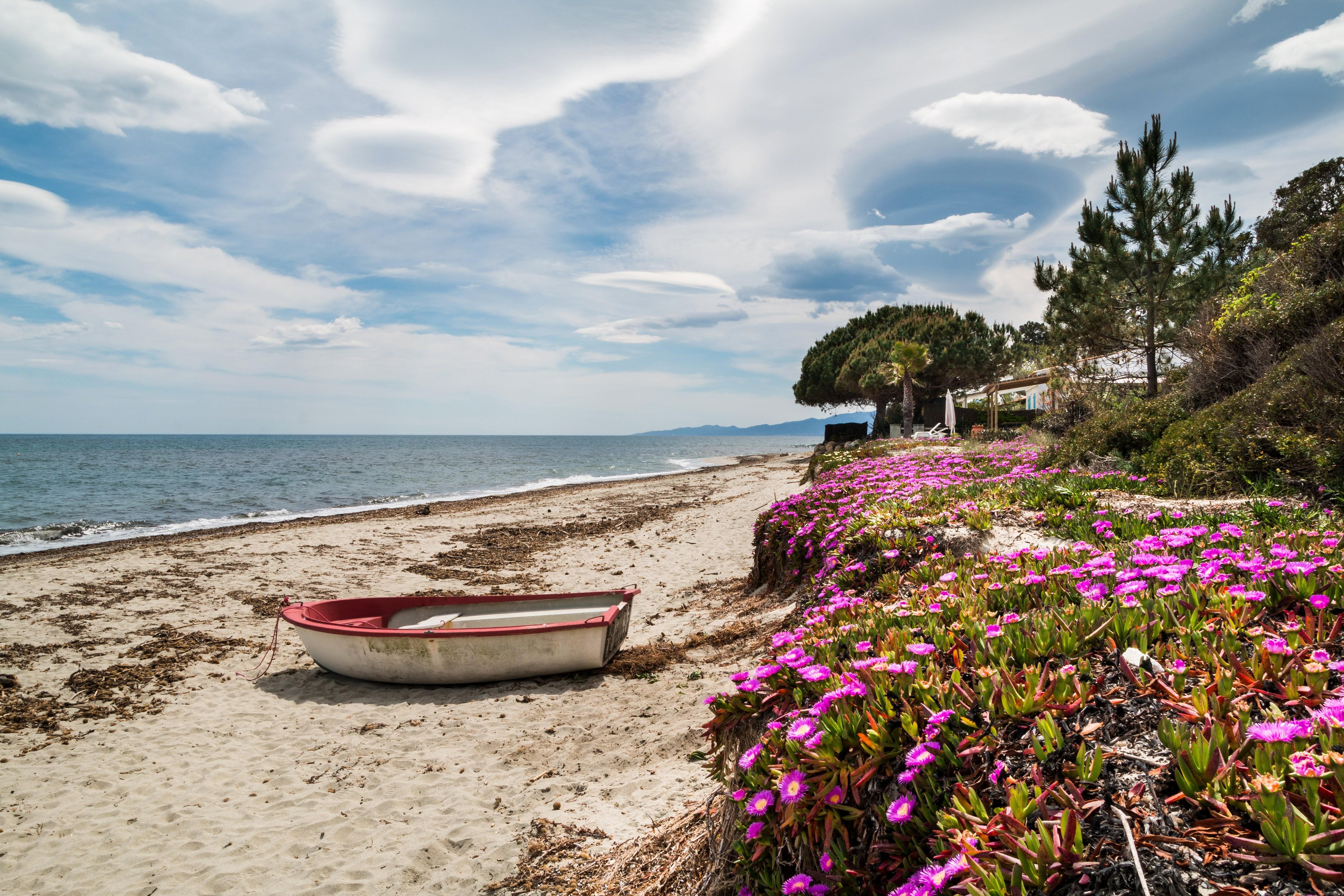Colourful Boatsfrance Sky Portulaca Coast Wallpaper Nature 5250x3500
