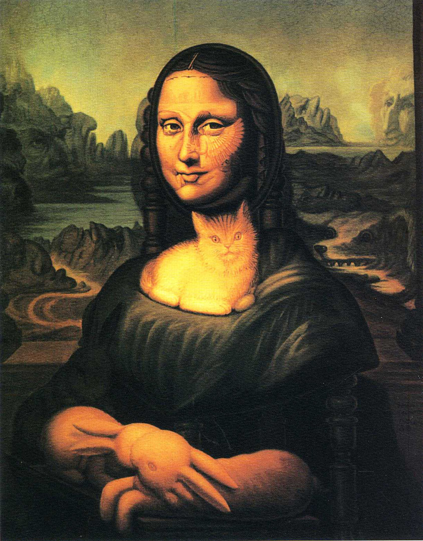 Mona Lisa   A optical illusion octavio ocampo art wallpaper picture 844x1080