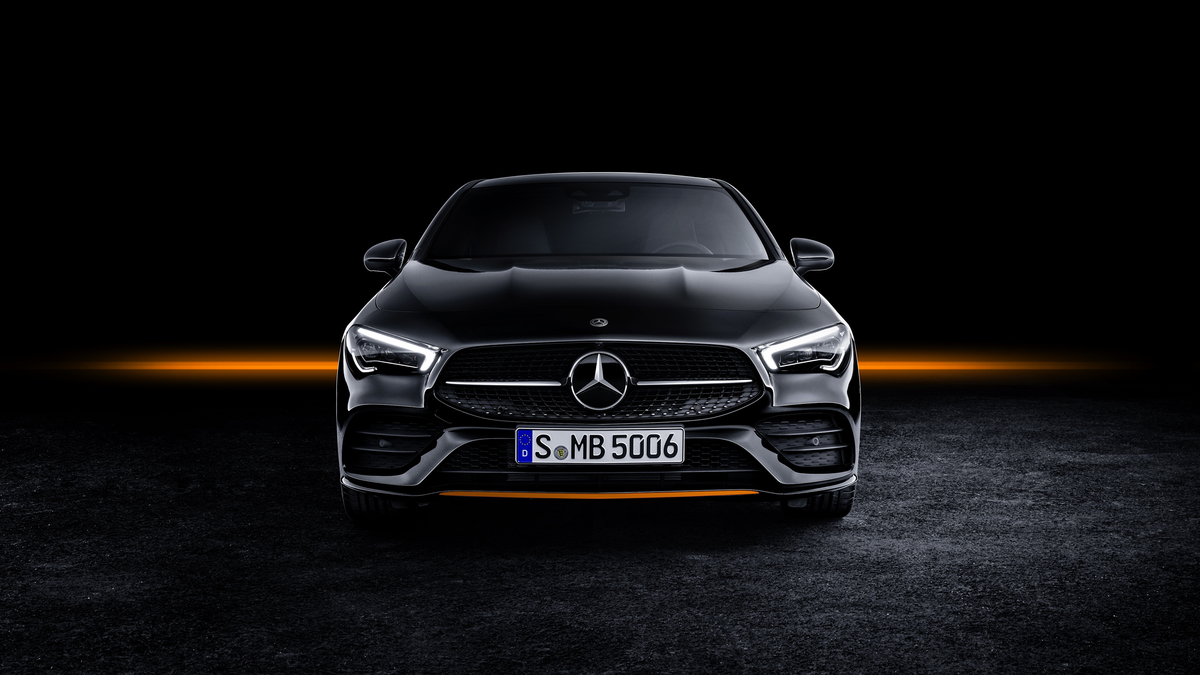 Wallpaper Mercedes Benz CLA AMG Line 2019 Edition Orange 3840x2160 3840x2160