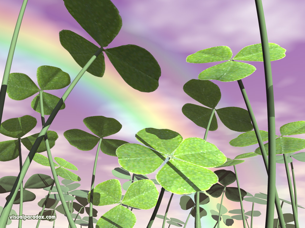 st patricks day saint ground cover clovers 3d wallpaper 1024x768