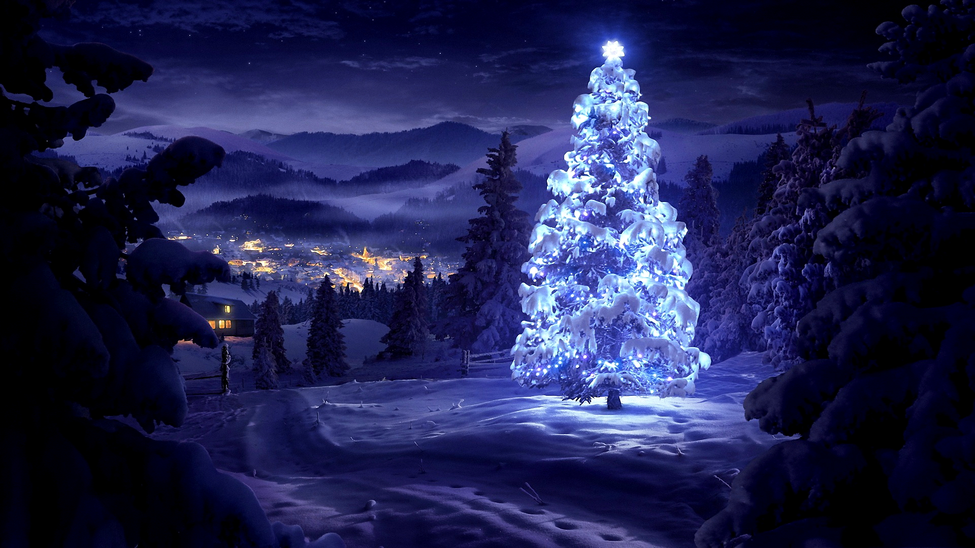Beautiful Christmas Tree 1920x1080