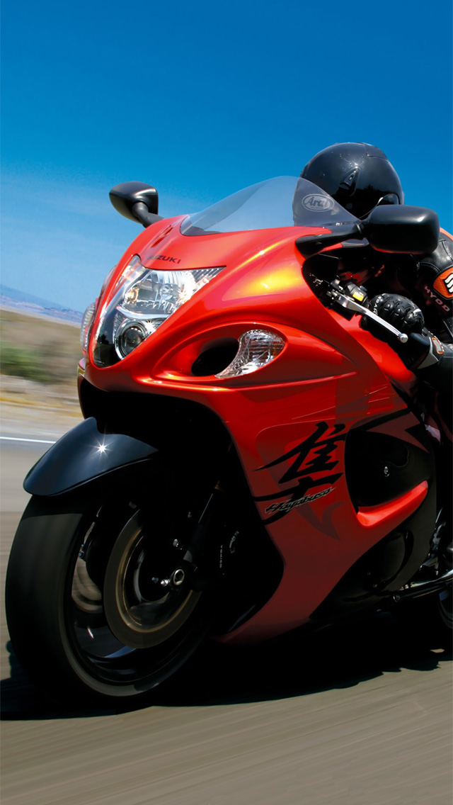 Suzuki Hayabusa iPhone 5 wallpaper and background 640x1136