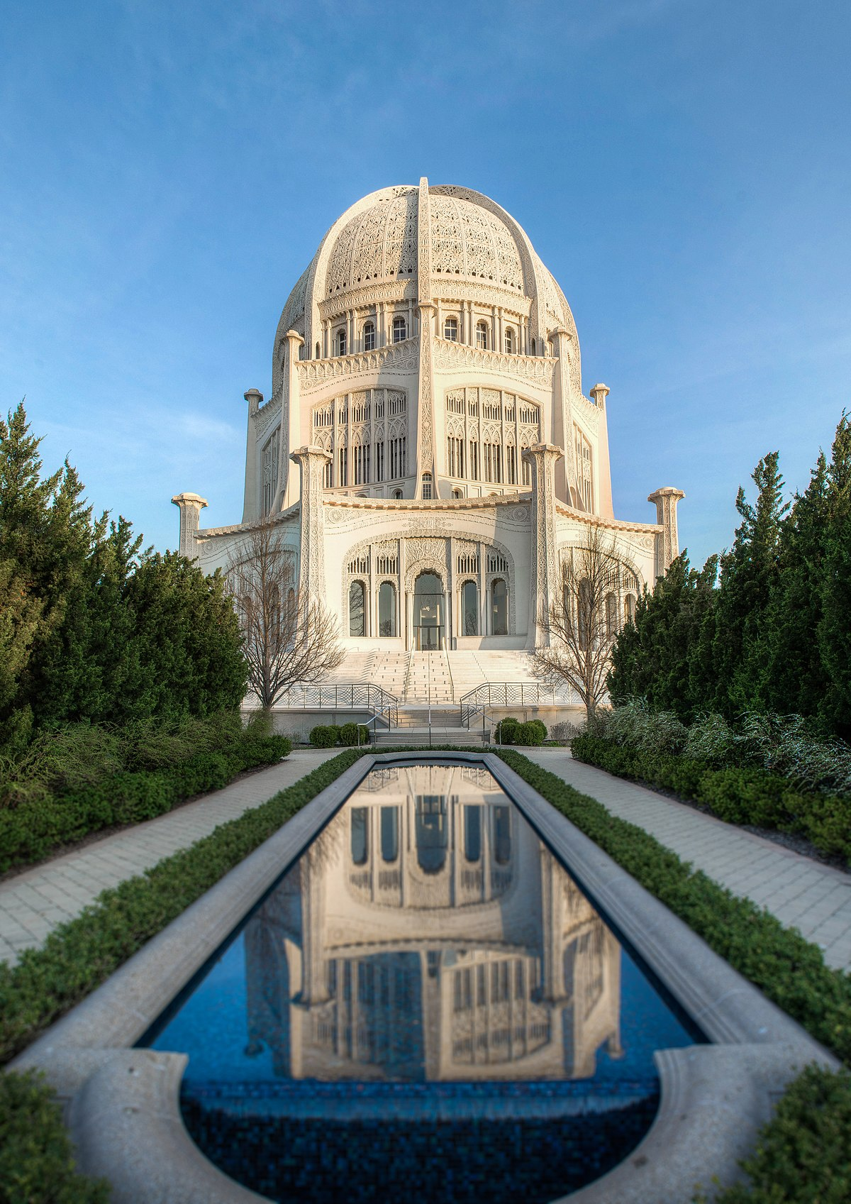 Bah House of Worship Wilmette Illinois   Wikipedia 1200x1697