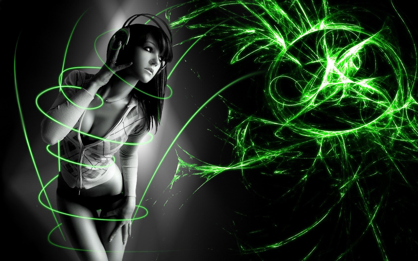 Awesome Wallpaper Abstract 3D Girl Epic Plugins 1440x900