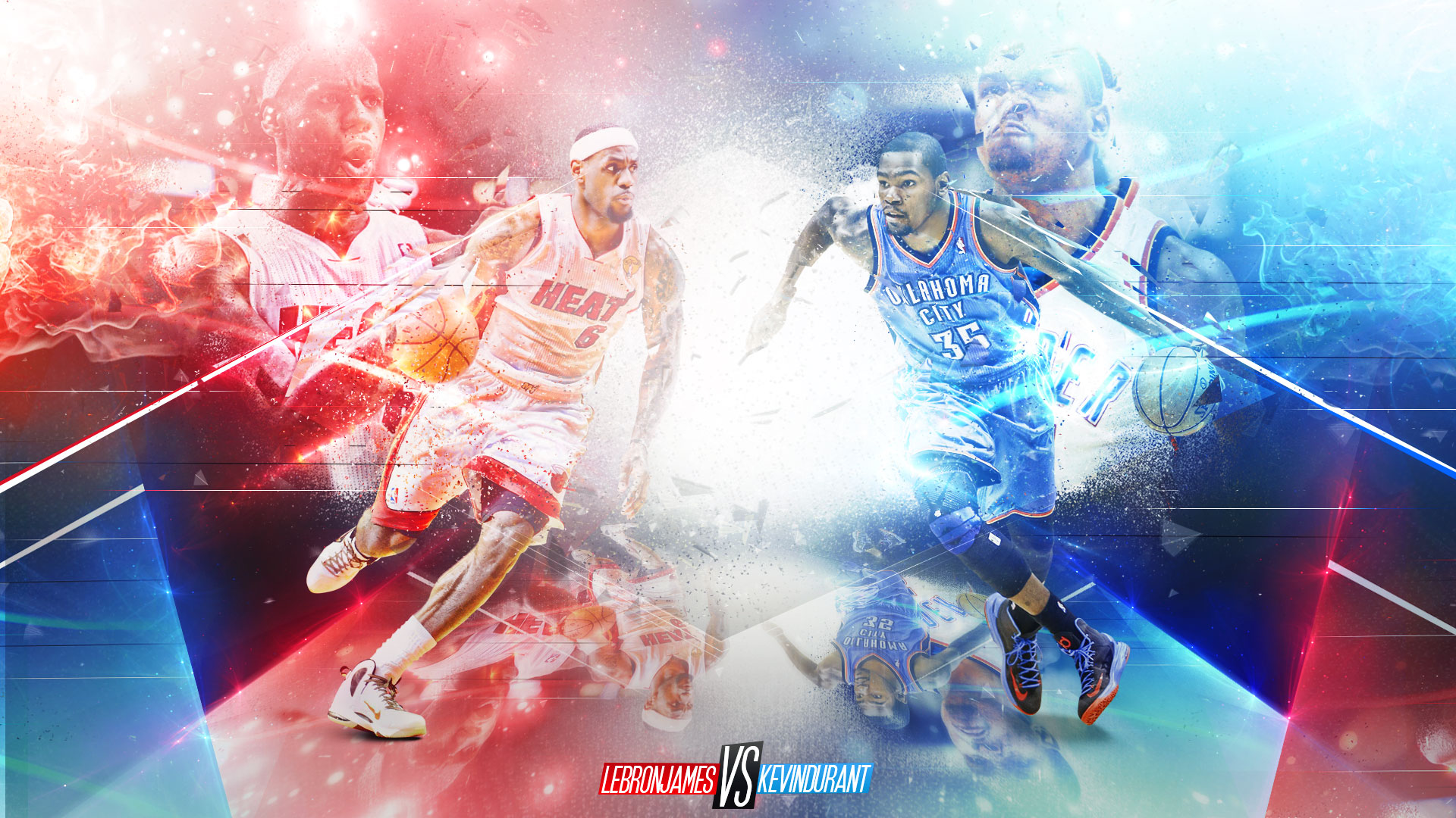 LeBron James vs Kevin Durant Wallpaper is a hi res Wallpaper 1920x1080