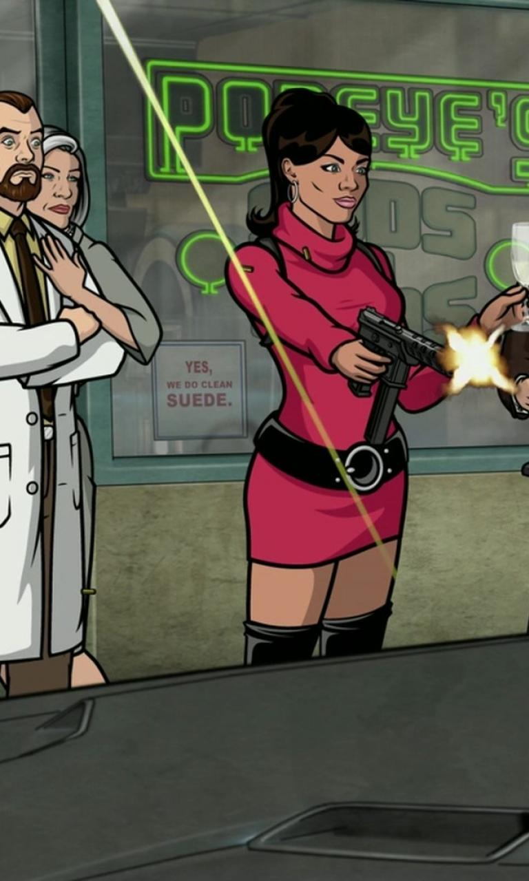 Archer tv lana kane pam poovey wallpaper 72956 768x1280