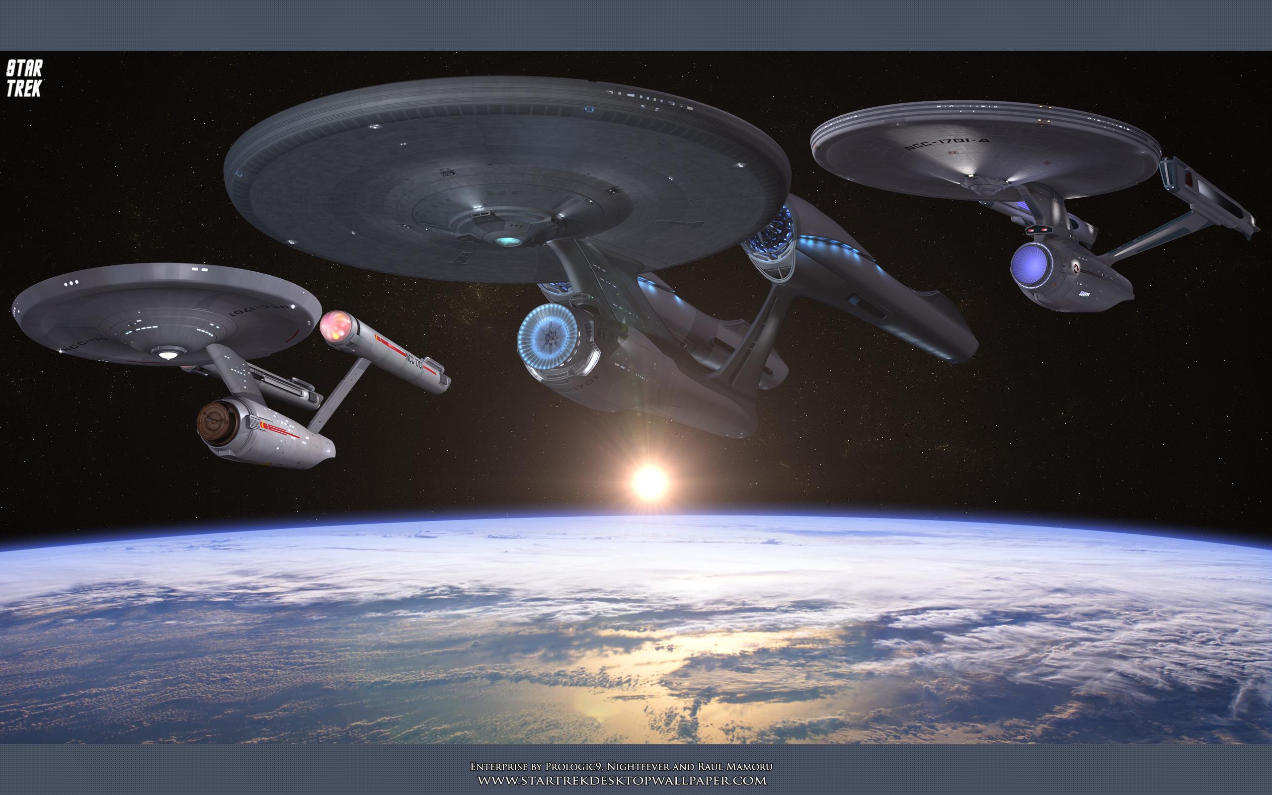 Abrams USS Enterprise Star Trek computer desktop wallpaper 2560x1600