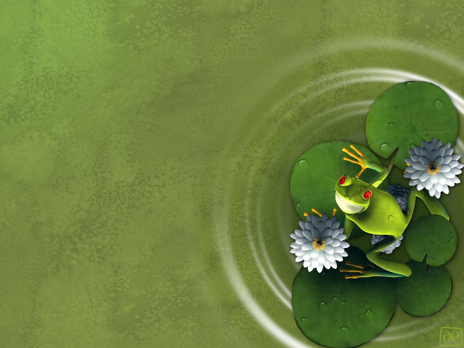 Лягушка листья  № 2931477 без смс