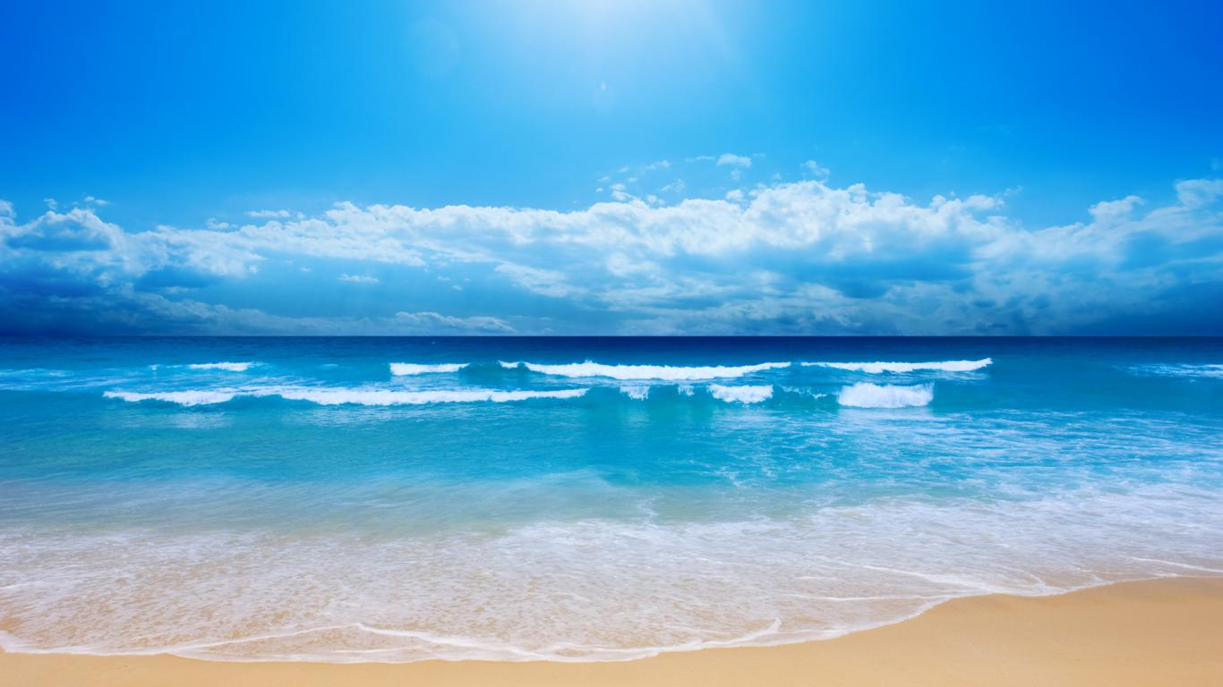 ocean background images high resolution wallpapers of blue ocean 1366x768