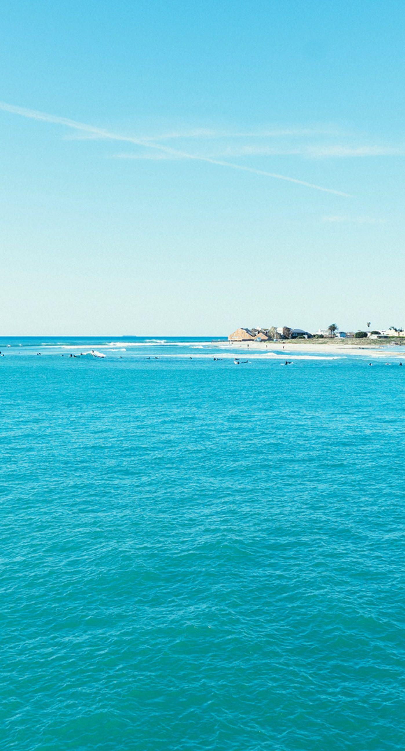 Free Landscape Sea Blue Sky Wallpapersc IPhone7Plus