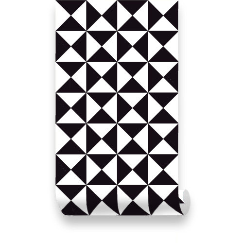 Black and White Geometric Removable Wallpaper Peel by WallPlays 500x500