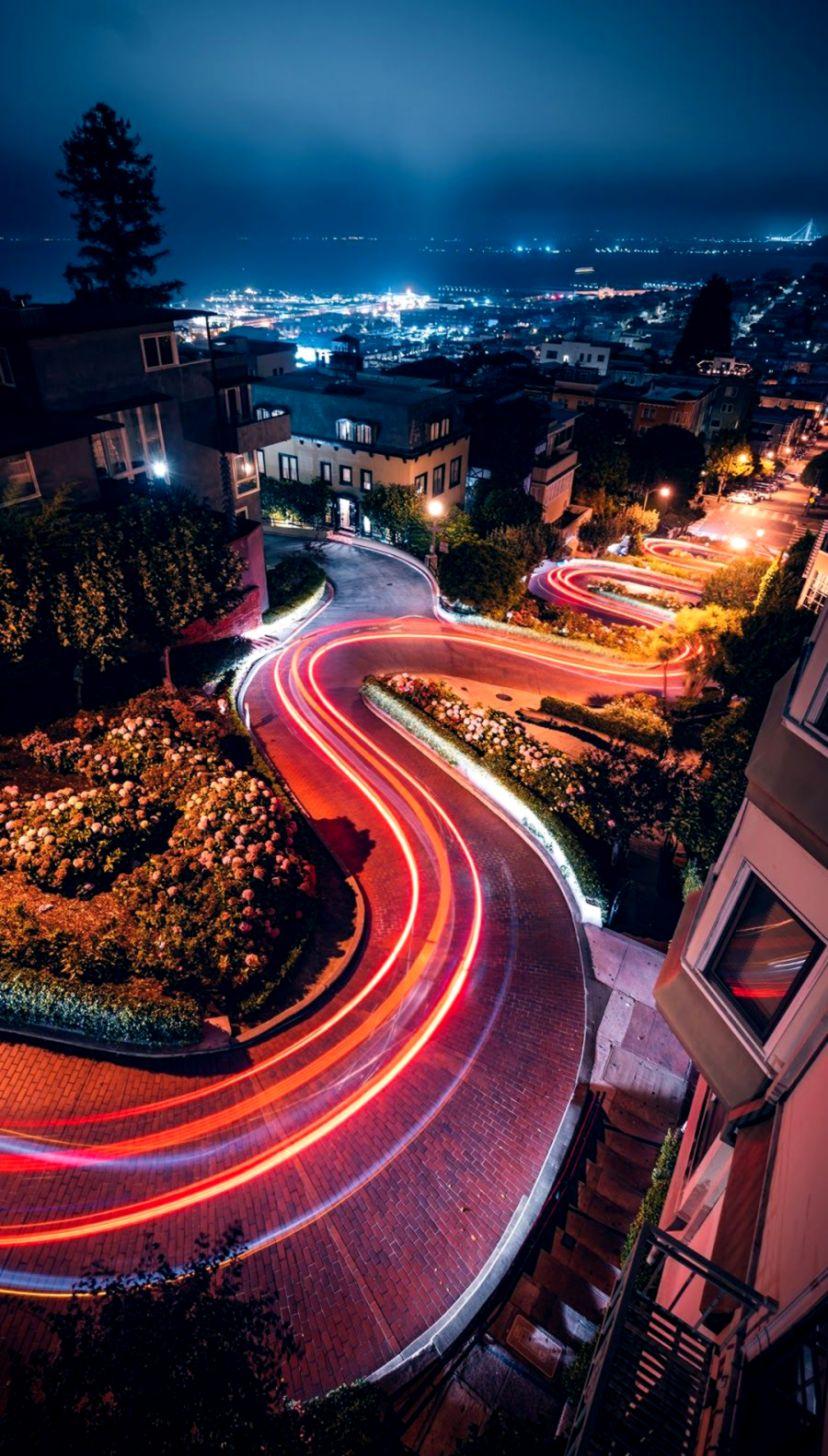 Beautiful City Road Beautiful Wallpaper Iphone Wallpaper   Lombard 828x1456