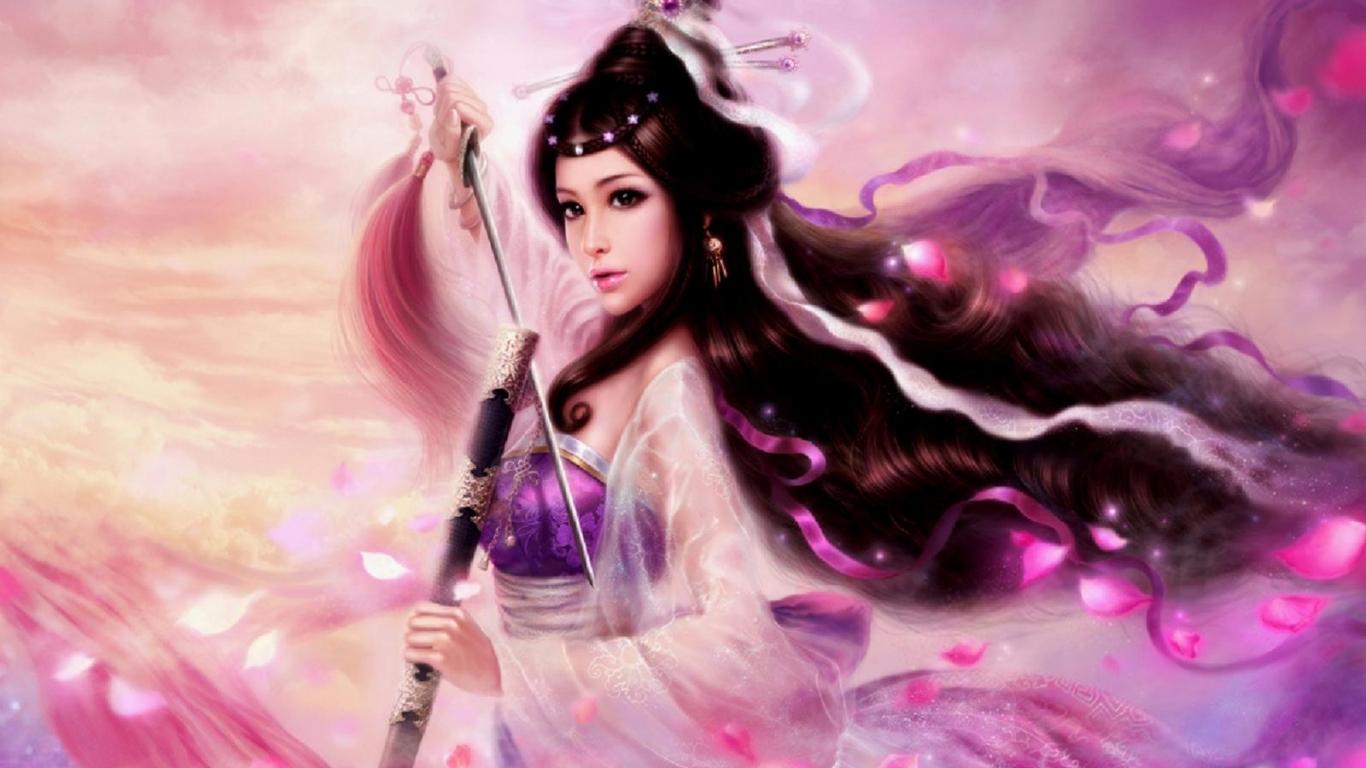 Elegant Asian Girl Wallpaper 1366x768   Fondo hd 2255 1366x768