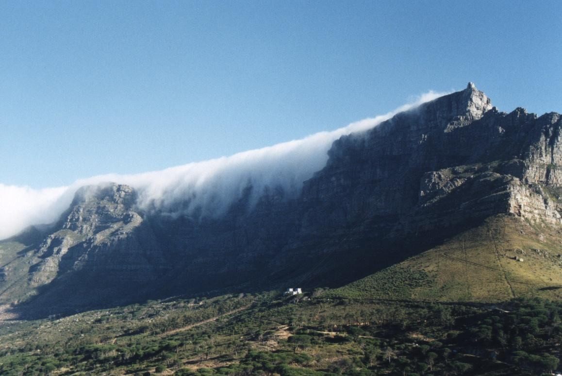 Table Mountain With South Easter Cloud HD Walls Find Wallpapers 1158x774