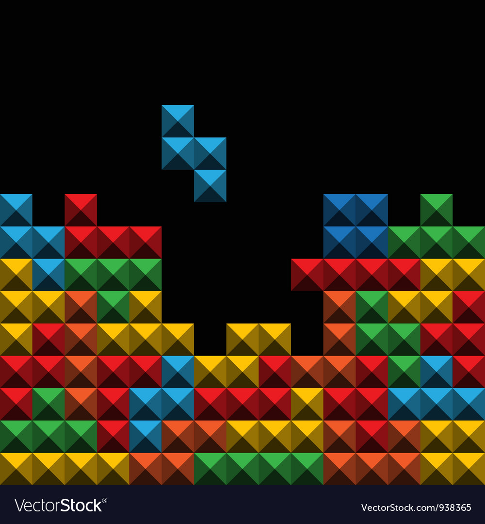 Tetris Background Tiles Vector Images 34 1000x1080