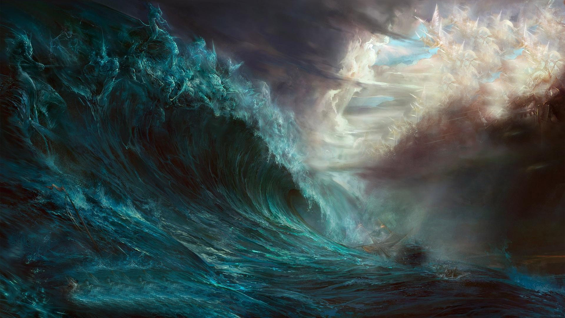 stormy, sea, boat, resolution, high wallpaper - ForWallpaper.com