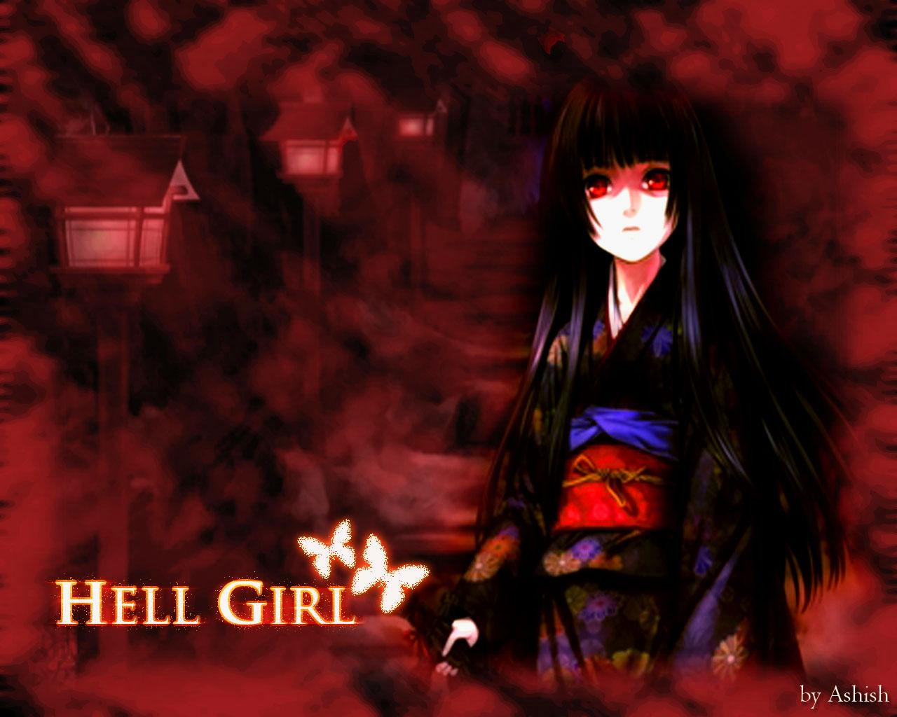 jigoku shoujo  hell girl  wallpaper by ashishartist d55nheyjpg 1280x1024