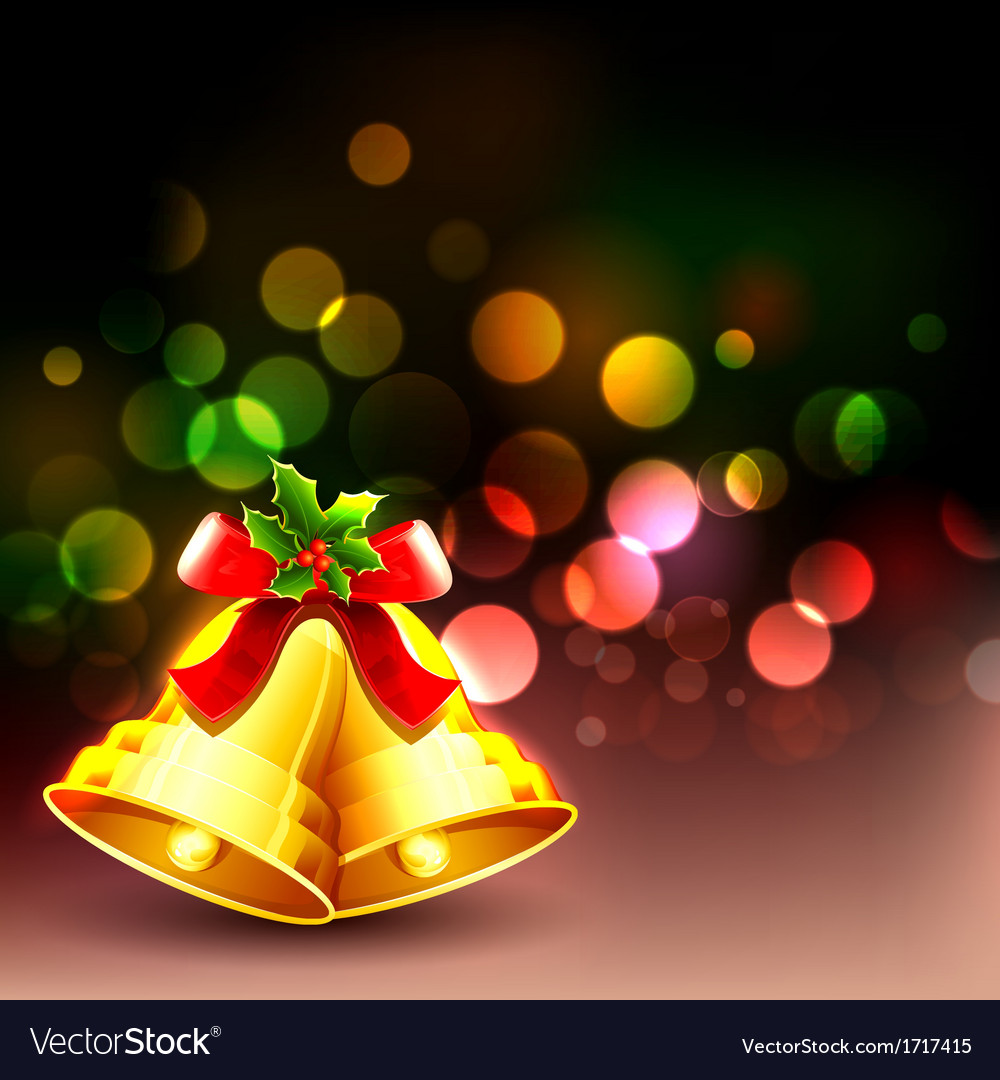Jingle Bell in Christmas background Royalty Vector 1000x1080