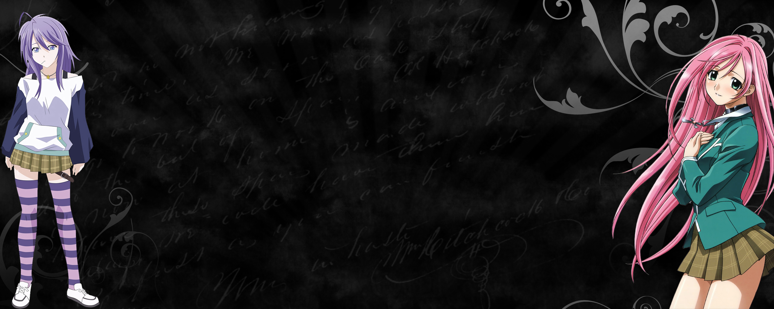 Rosario Vampire my wallpaper 2560x1024