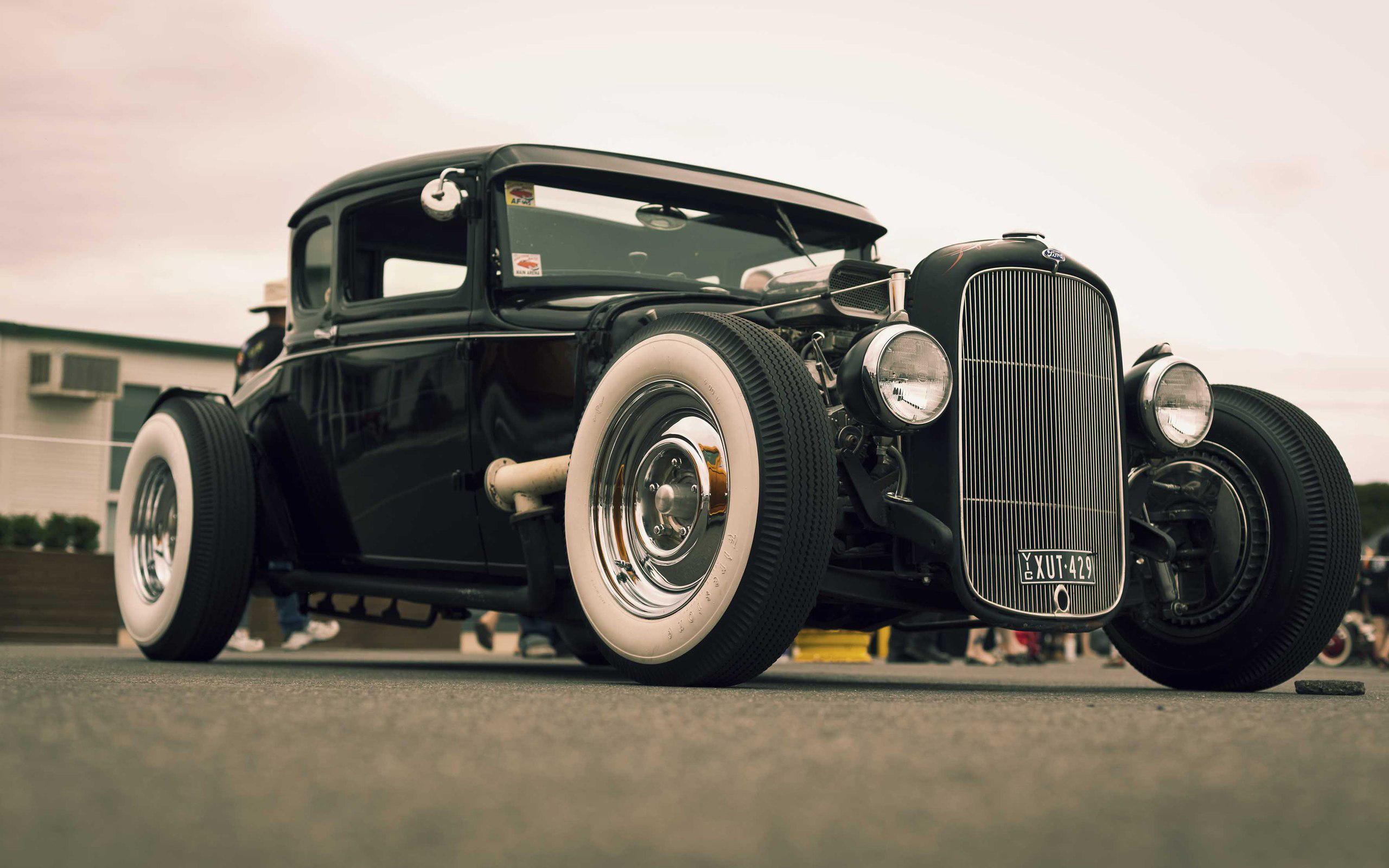 Classic Black Hot Rod HD Wallpapers 2560x1600