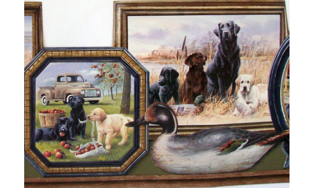 Hunting Hunting Dogs Wallpaper Border 1000x600