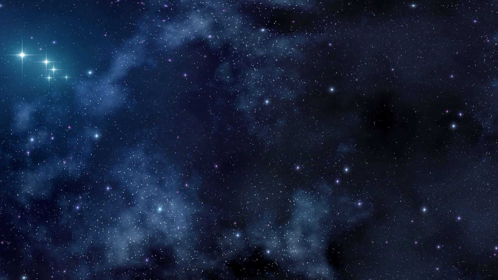 Dark Blue Space Wallpaper 1600x900