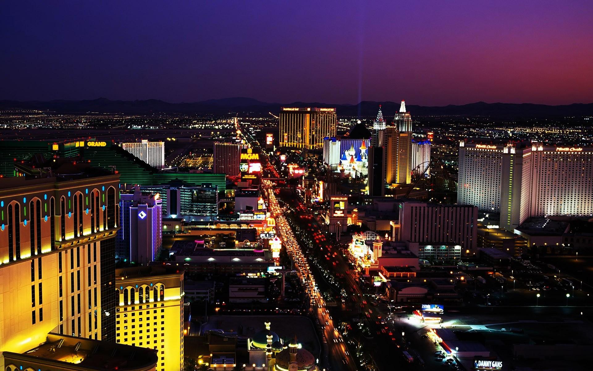 download Las Vegas Strip Night Beautiful HD Wallpaper 5309 1920x1200