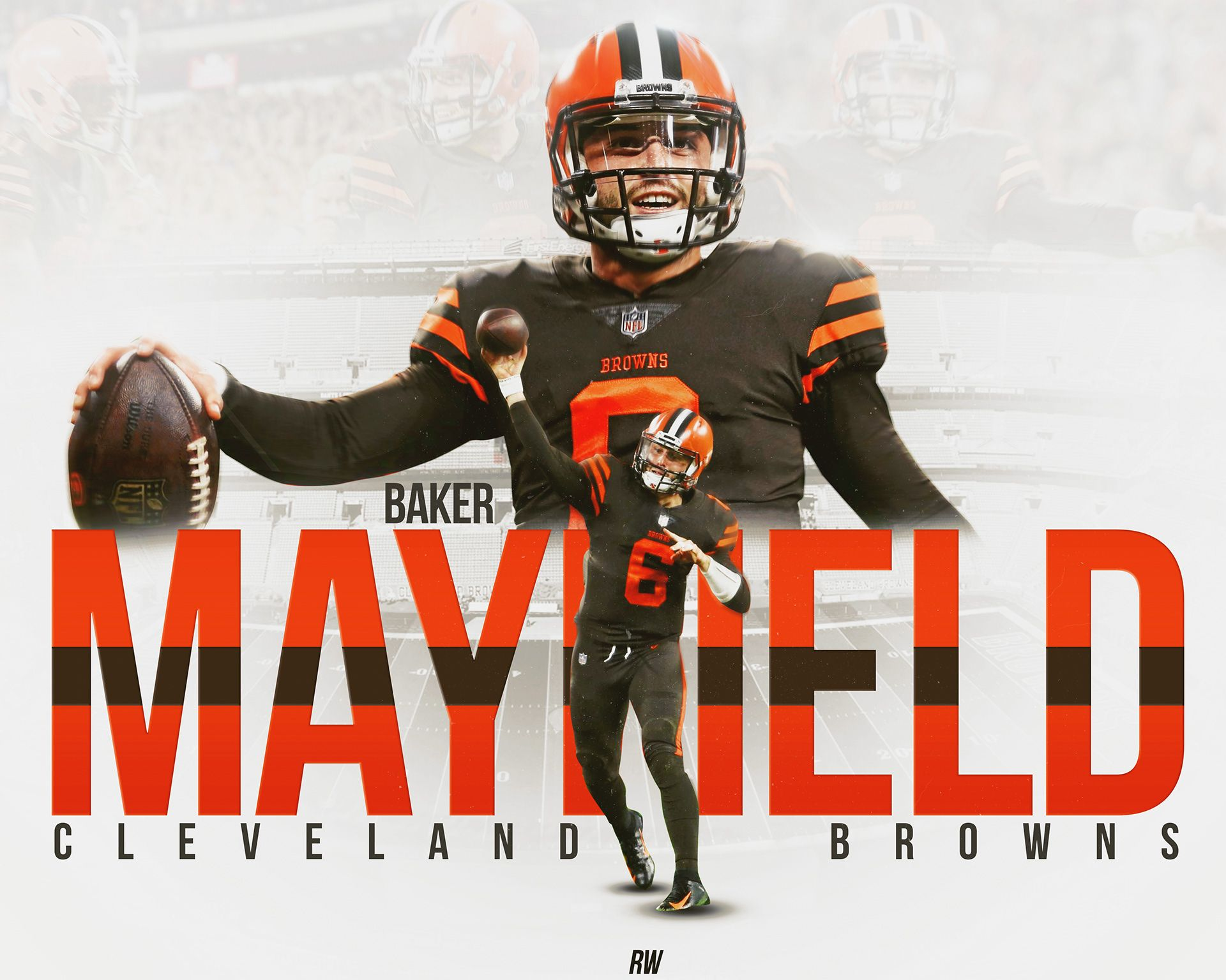 Baker Mayfield Cleveland Browns Graphic on Behance Sports Ad 1920x1536
