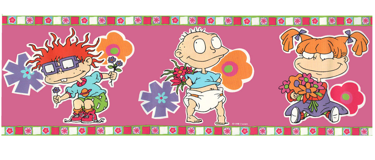 RUGRATS Girl Wallpaper BORDER Rugrat WALL PAPER Stickup 1200x514