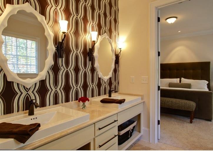 GREAT BATHROOM WALLPAPER IDEAS MAMAPJ 724x514