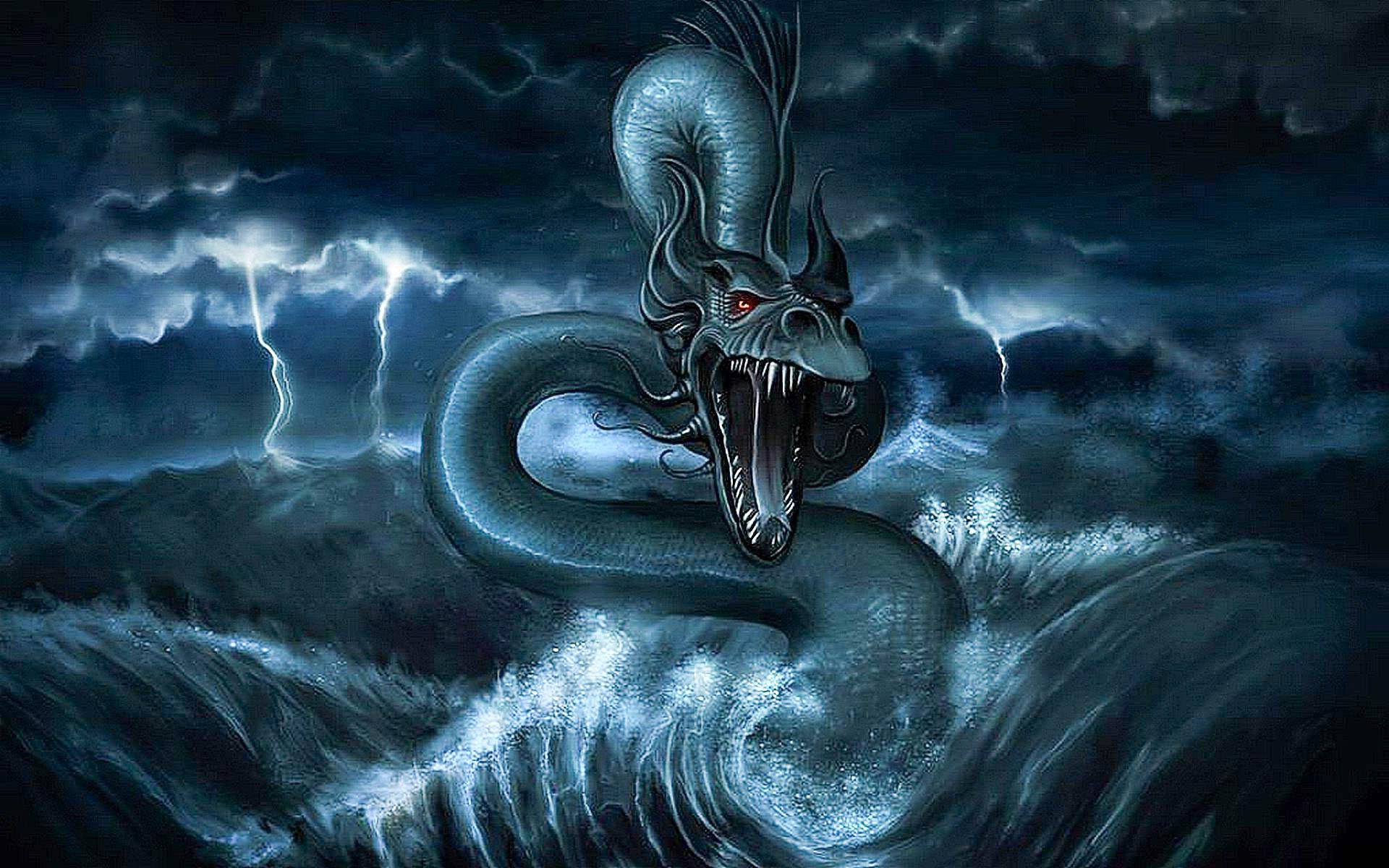 Giant sea monster wallpaper
