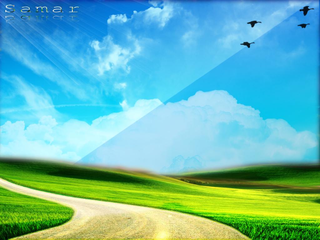 1024x768 Blue Green Nature desktop PC and Mac wallpaper 1024x768