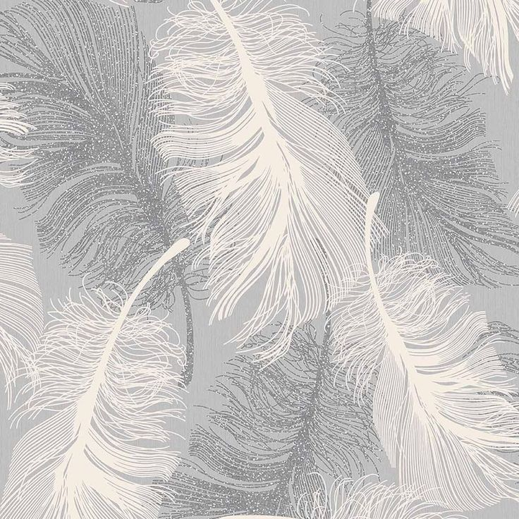 Details about Dappled Grey Feather Wallpaper White and 736x736