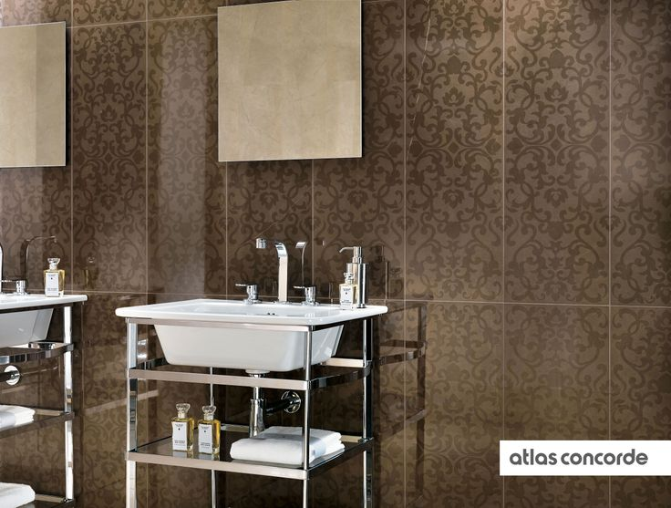 MARVEL bronze Wallpaper Wall design AtlasConcorde Tiles 736x557