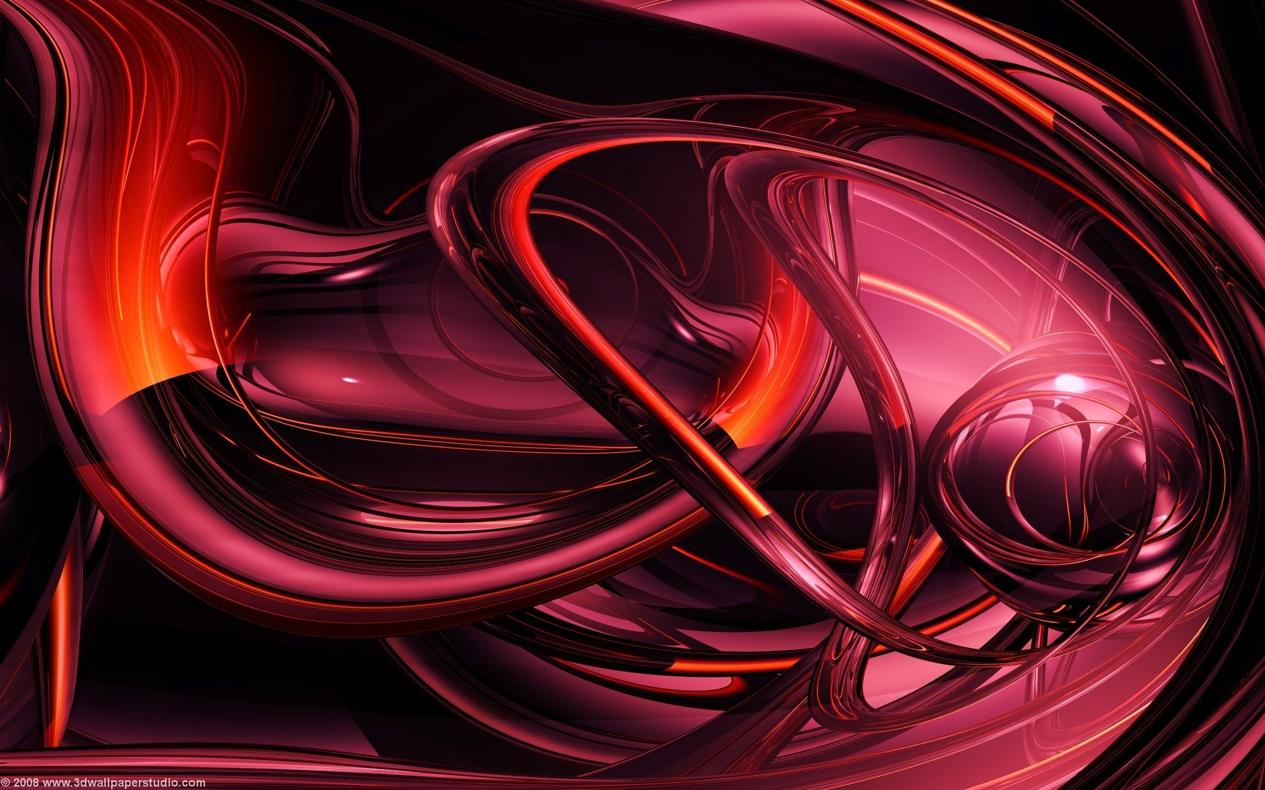 3D Backgrounds Red wallpaper   1016881 2560x1600