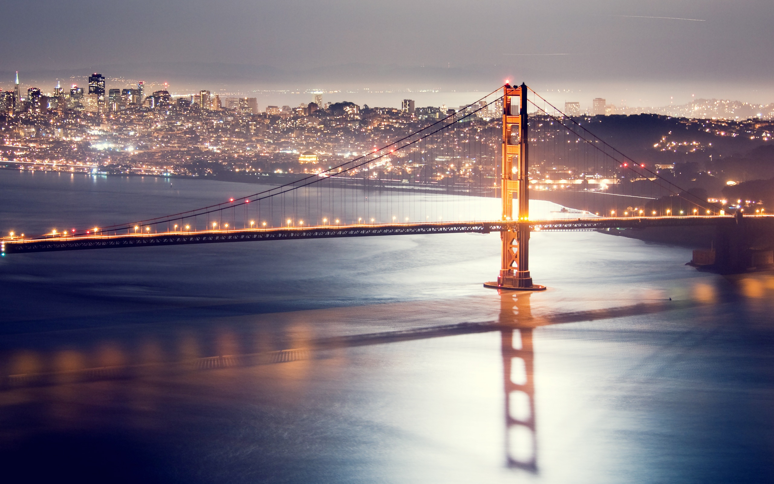 Evening Crossing, Bay Bridge, San Francisco, California  № 3721053  скачать