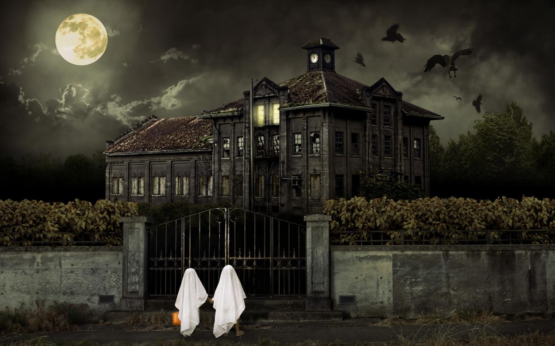 Halloween Haunted House HD Wallpaper Haunted HD Wallpaper 3D Horror 1440x900