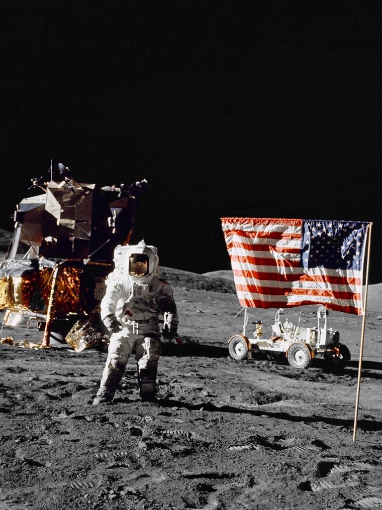 Apollo 17   The Final Apollo Mission   iPad iPhone HD Wallpaper 768x1024