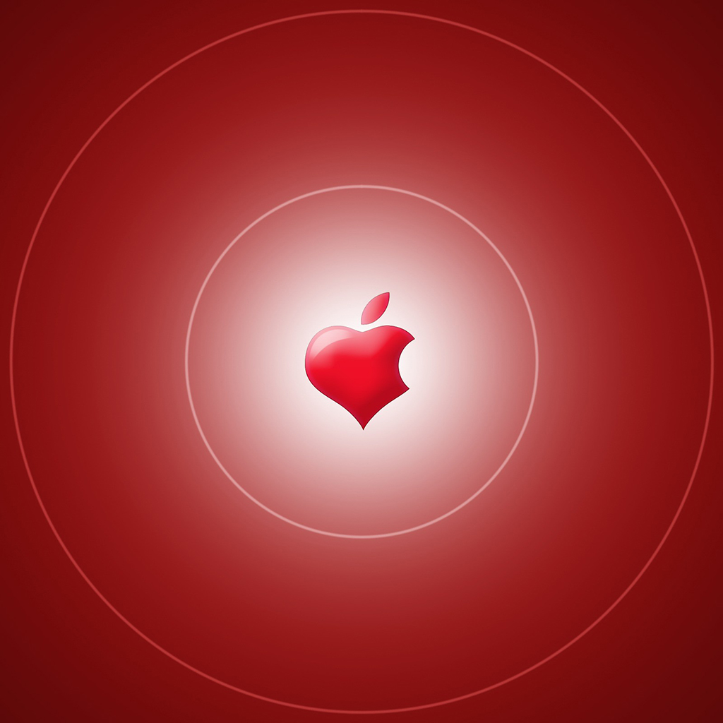 Wallpaper Weekend Apple Logo Valentines Walls for iPhone and iPad 1024x1024