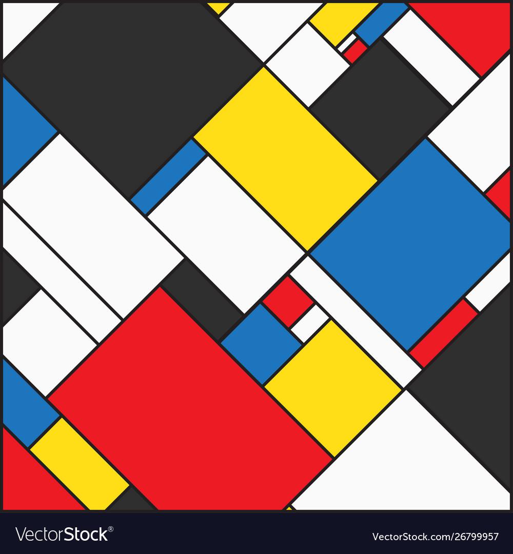 Mondrian background Royalty Vector Image   VectorStock 1000x1080