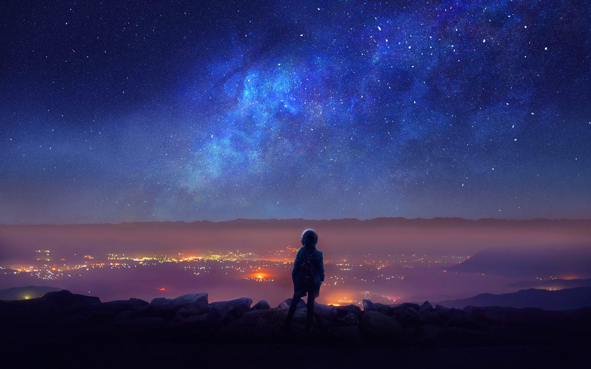 Beautiful Night View Wallpaper 2048x1280