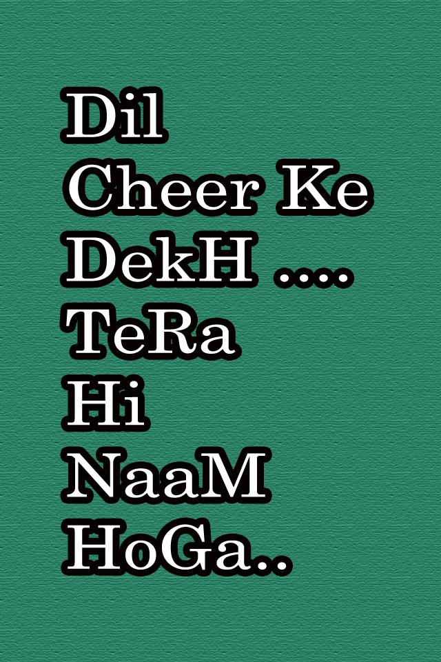 The HD Dil Cheer Ke DekH TeRa Hi NaaM HoGa Whatsapp Wallpaper 640x960