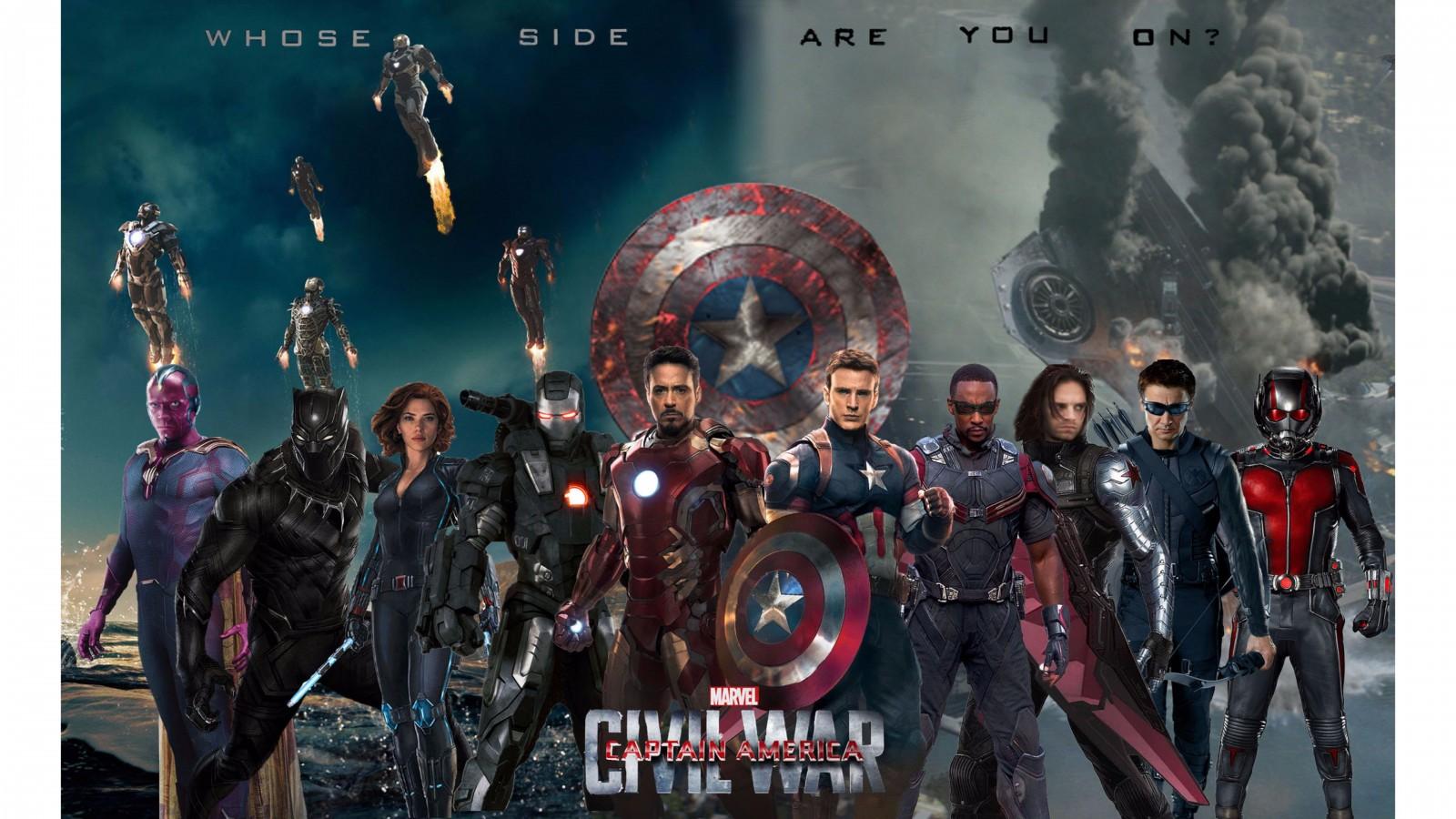 2016 Captain America Civil War 4K Wallpaper 4K 1600x900