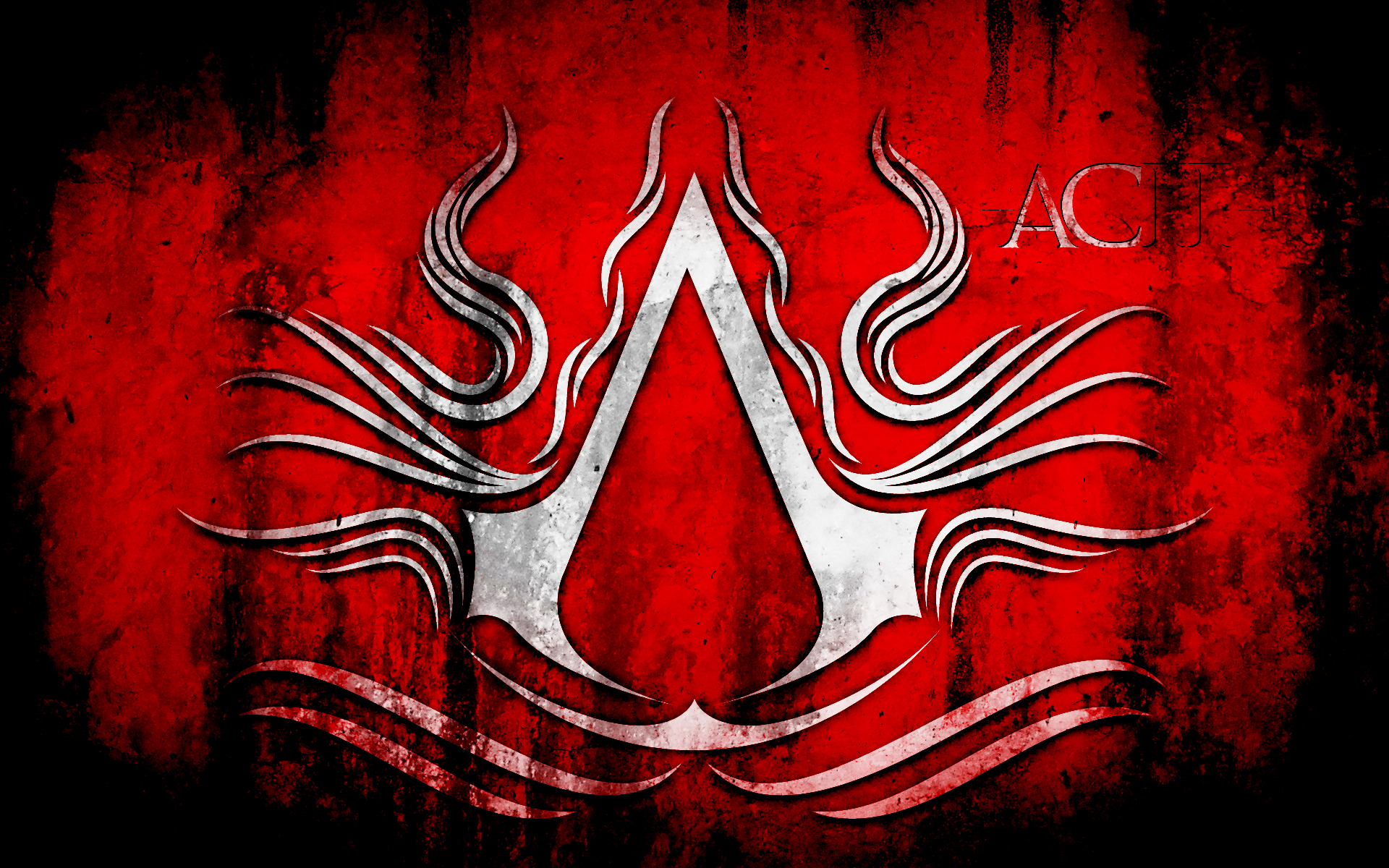 Assassins creed logo wallpaper hdpuzzles assassins creed symbol red 1920x1200