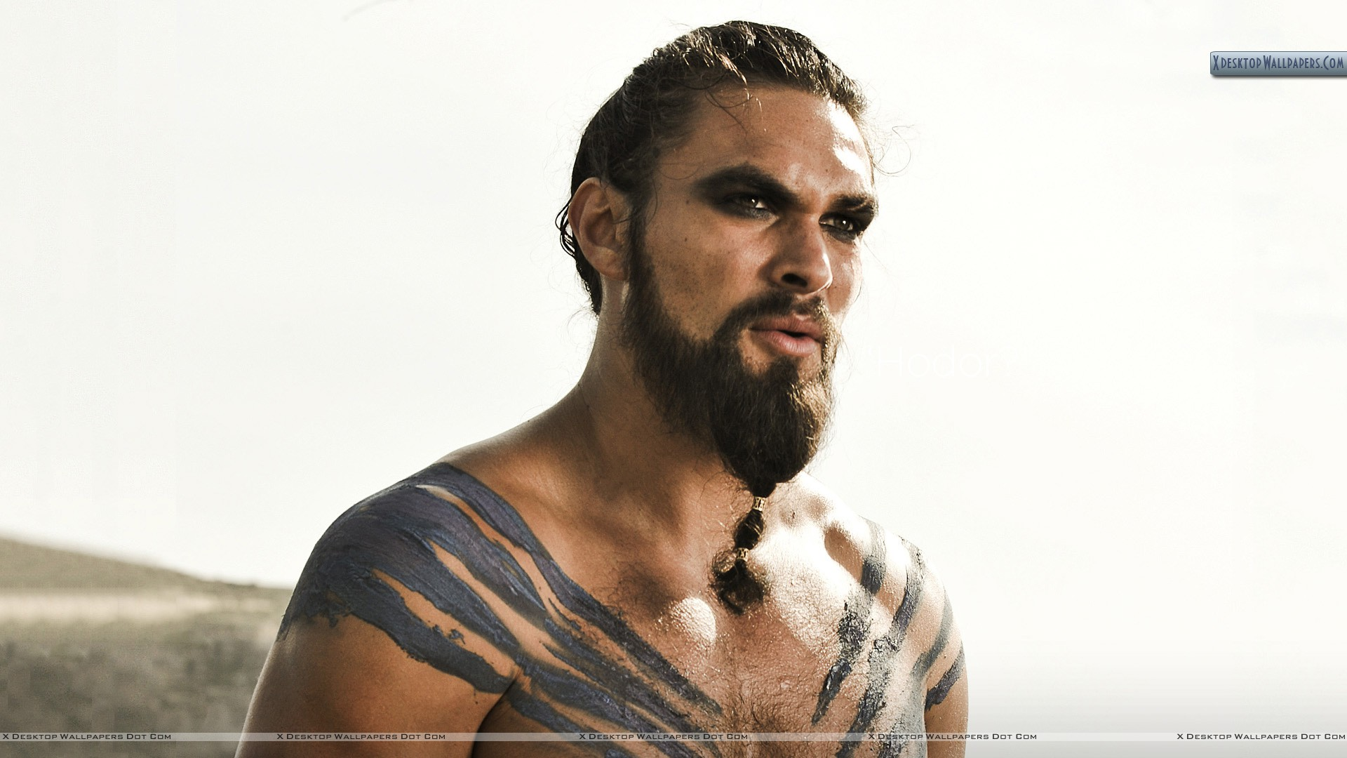 Game Of Thrones Jason Momoa Looking Side Photoshoot Wallpaper 1920x1080